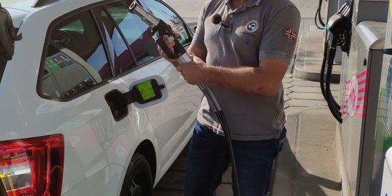 Foto: Biogastankstelle, © Fachverband Biogas e.V.