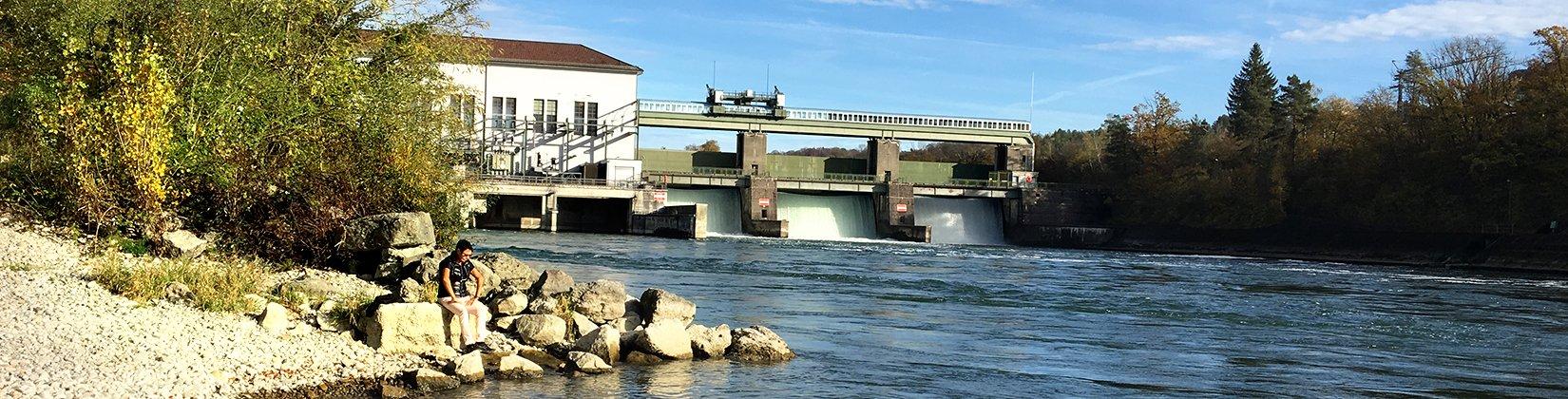 Wasserkraftanlage Hochrhein, © IGW, D. Heilig