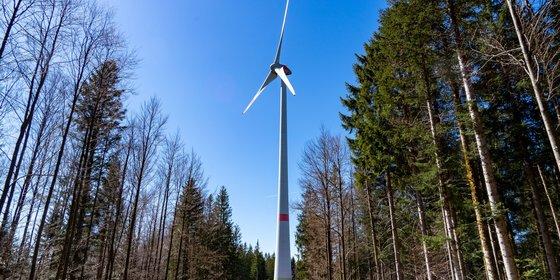 Foto: Windenergieanlage bei St. Peter im Schwarzwald.    © Plattform EE BW, A. Jung