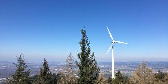 Windenergieanlage in Baden-Württemberg, © Plattform EE BW